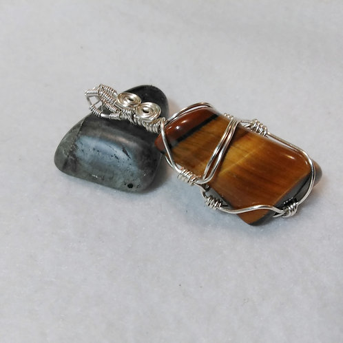 Tiger Eye | Wire Wrapped Pendant | Stone of Protection