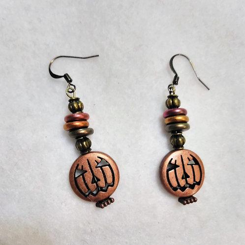 Pumpkin Earrings | Halloween Jewelry