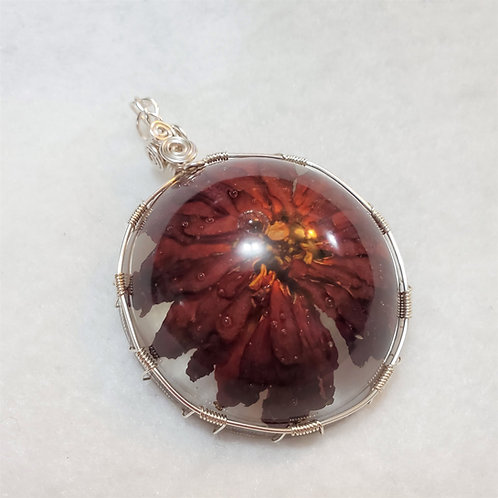 Red Flower | Necklace Made with Real Flower