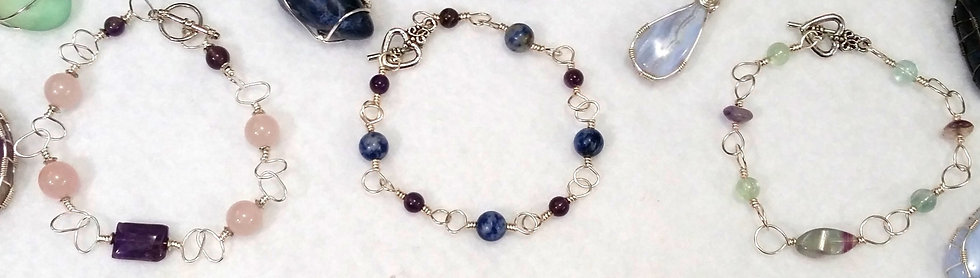 Calming Gemstone Bracelets