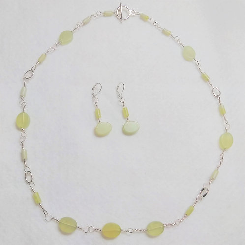 Necklace and Earring Set | Green | Jewelry