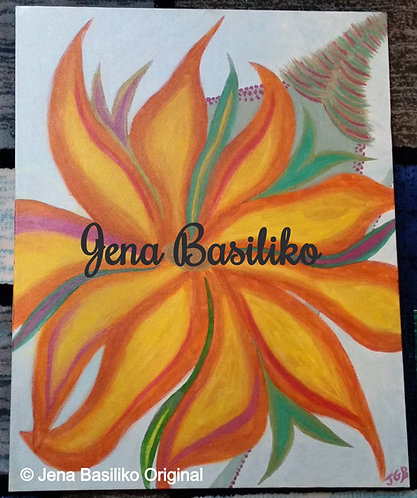 Thanksgiving | Painting | Artist Jena B | 24 x 30 inch Signed Original