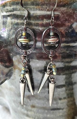 Green Beauty Metal on Metal Earrings 3.2