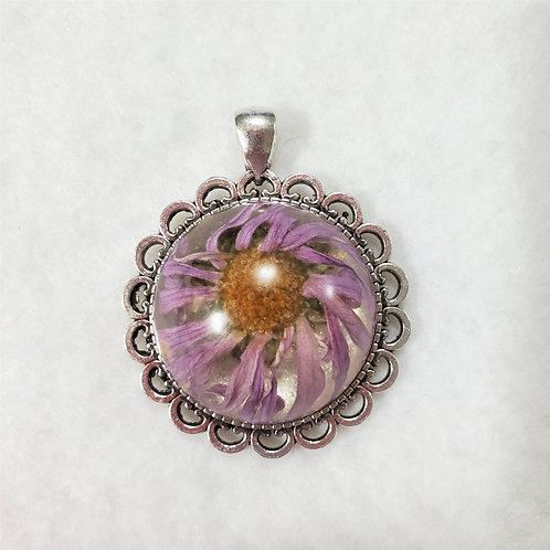 Light Purple Flower Pendant