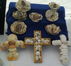 Shell Flowers and Shell Wall Crosses