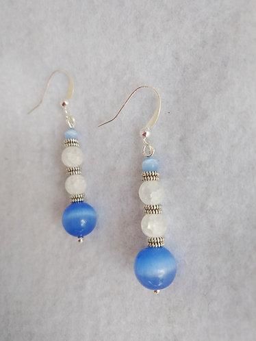 Blue Cat Eye Earrings | Jewelry | Silver