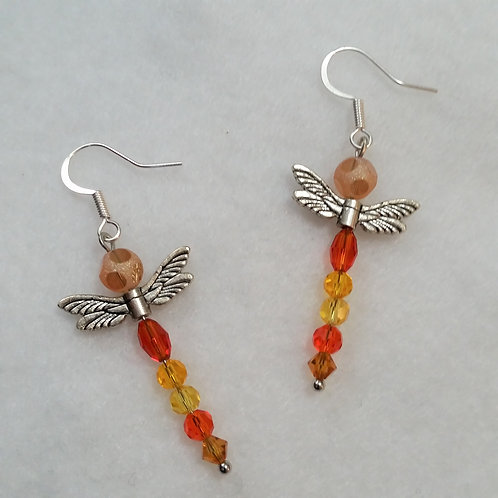 Dragonfly | Earrings | Orange | Jewerly