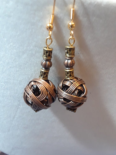 Wire Wrapped Copper Balls | Earrings | Rockville | Maryland