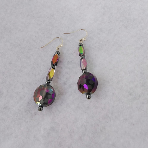 Iridescent Earrings | Silver | Jewelry