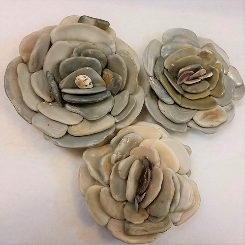 Shell Flower | Gray | Paperweight
