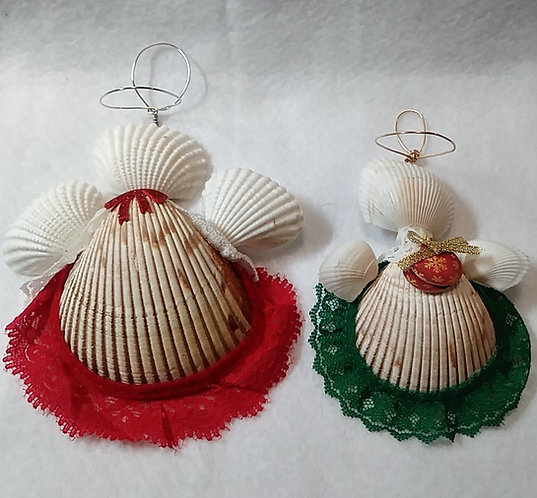 East Coast Seashell Ornaments | Angel | Handcrafted