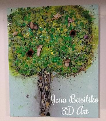 3d Tree Earth Art | Art and Wall Decor | Paintings
