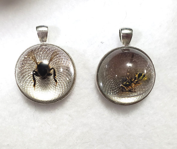 Natural Jewelry | Bee Pendants