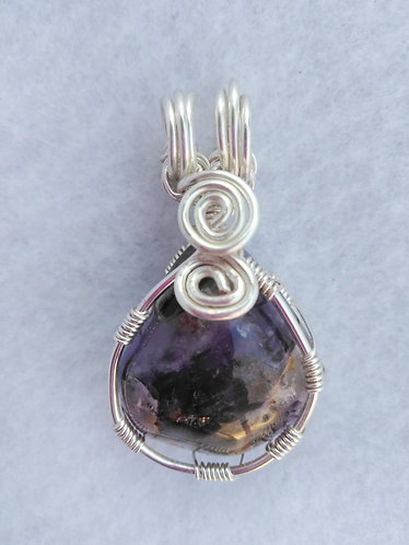Amethyst | Wire Wrapped Pendant | Purple