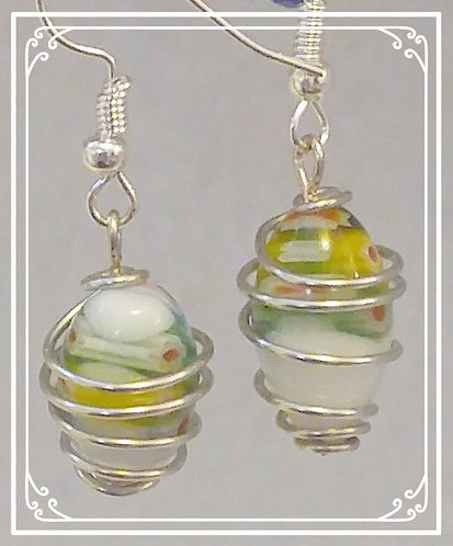 Wire wrapped earrings| Handmade | Tumbled Treasures Jewelry by Jena