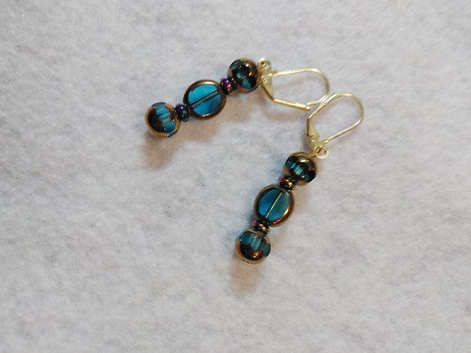 Blue Glass Earrings   Jewelry   Gold