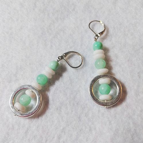 Mint Green Earrings | Jewelry | Silver