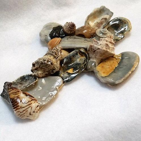 Seashell Cross   Shell Art   Ocean Religious Decor