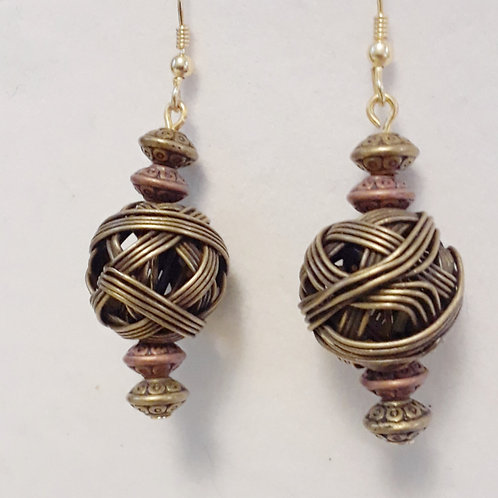 Wire wrapped balls | Earrings | Jewelry