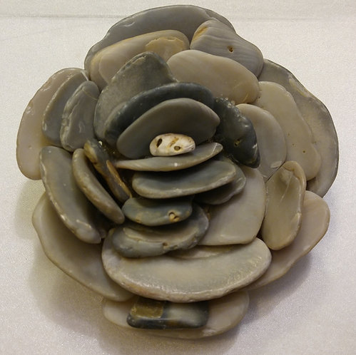 Black East Coast Shell Flower | Shell Art | Paperweight