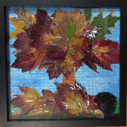 Earth's Natural Art | Fall | Natural Leaves | 3D Framed Art