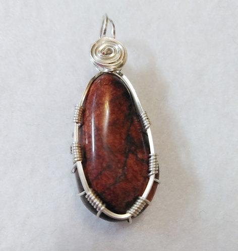 W.V. | Wire wrapped Stone pendant | Jewelry