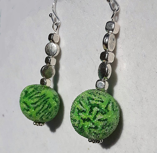 Large Green Swirly Earrings | Jewelry