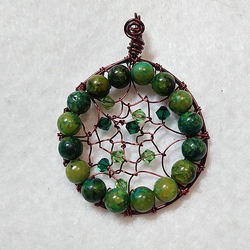 Green Dream Catcher | Necklace