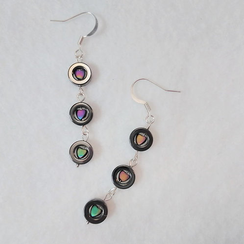 Hearts N Hematite Earrings | Earth's Natural Art and Jewelry