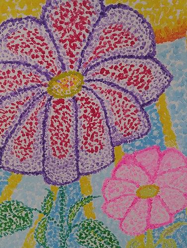 Summer Flowers | Paintings | Kids | Artist Jena B.