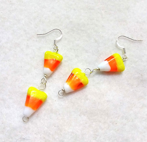 Candy Corn Earrings | Halloween Jewelry | Made to order