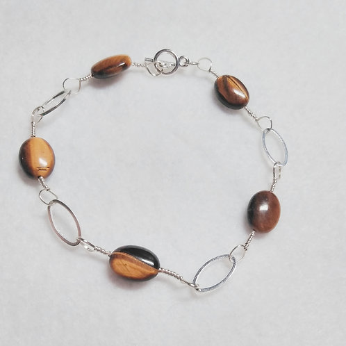 Tiger Eye | Wire Wrapped Bracelet | Jewelry