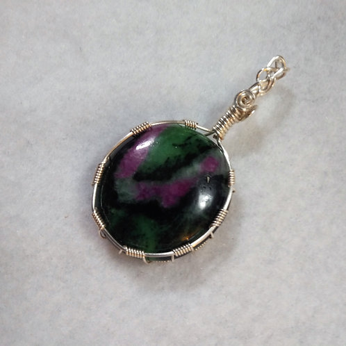 Anyolite Ruby Zoisite | Wire Wrapped Jewelry | Maryland