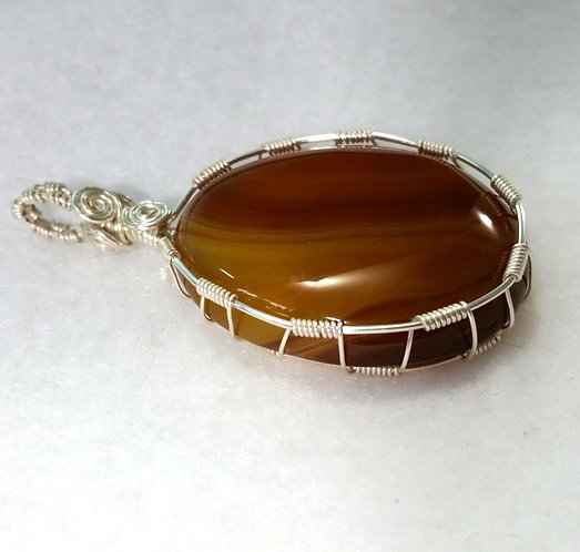 Agate Wire Wrapped Pendant | Jewelry