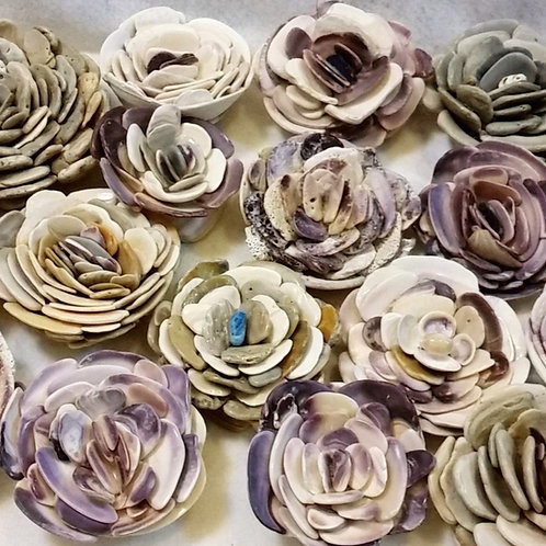 East Coast Shell Flower Paperweights