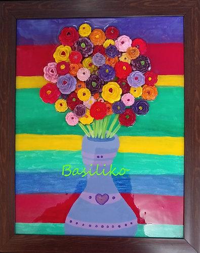 3D Flower Art by Jena Basiliko