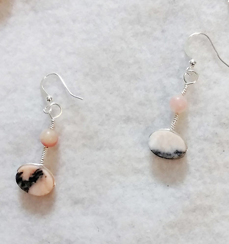 Pink Stone Earrings | Pink Stone | Set | Jewelry