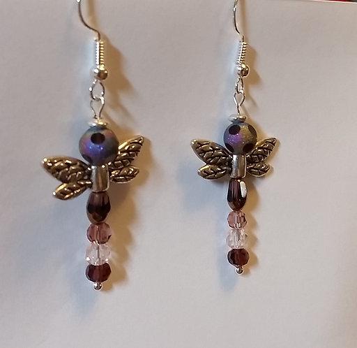 Dragonfly | Earrings | Purple | Jewerly