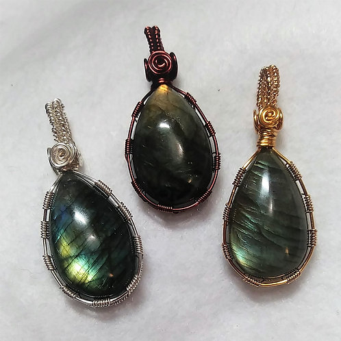 Labradorite | Wire Wrapped Pendants | Earth's Natural Art and Jewelry