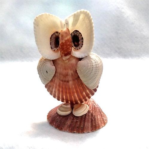 Owl | CUSTOM ORDER Mr. Mladen | Ocean art | Seashell Art | Shell Figurine