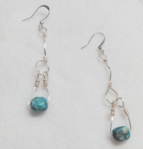 Earrings | Blue Stone | Jewelry