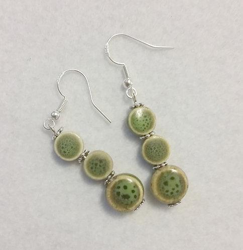 Green spotted Earrings   Jewelry  Earrings