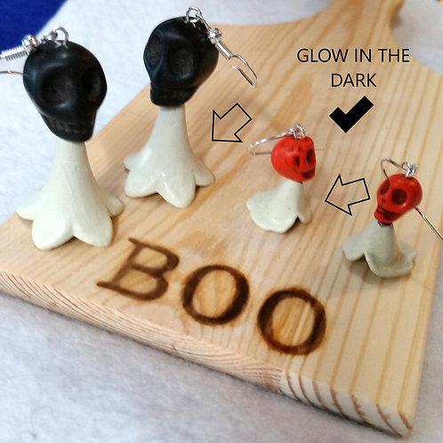 Ghost GLOW IN THE DARK Earrings Halloween | Jewelry