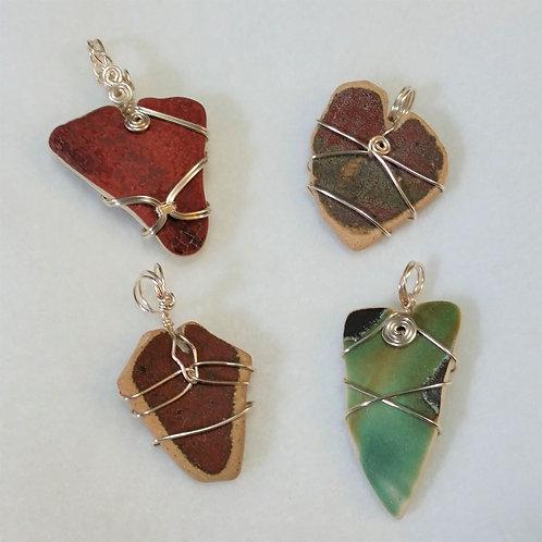 Heart Pottery Pendants   Maryland