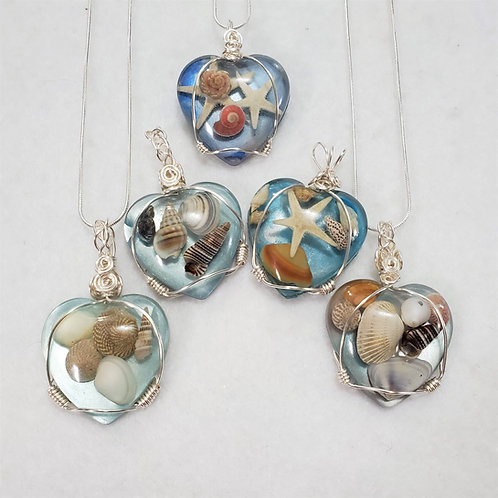 Seashell Natural Jewelry | Hand Painted  | Seashell Pendants