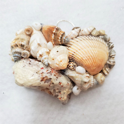 Seashell Heart Ornament | Handcrafted in Maryland