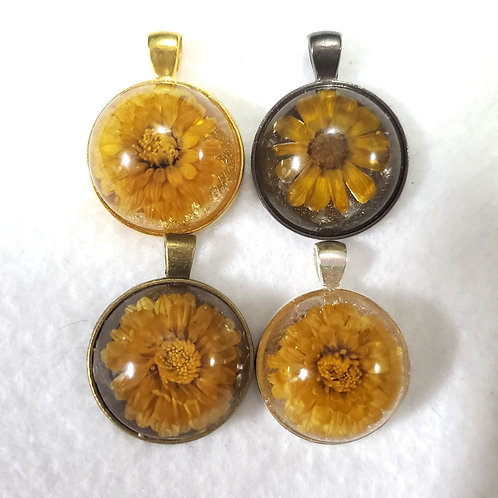 Real Flower Pendant with Chain | Natural Jewelry