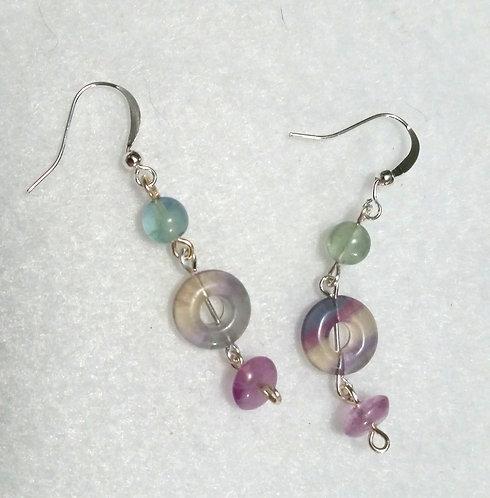 Calming Gemstone Earrings | Fluorite