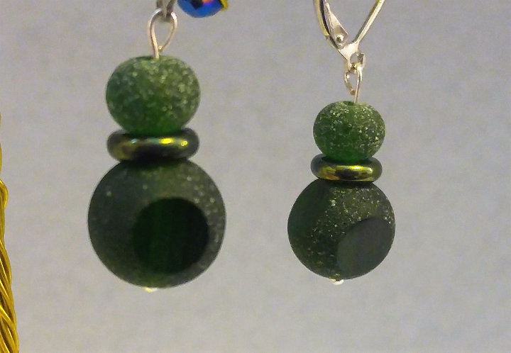 Sea Glass | Green | Earrings