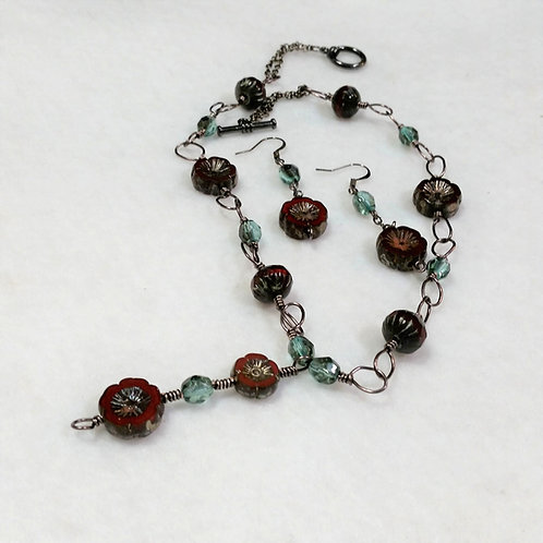 Czech Glass Necklace and Earrings | MADE TO ORDER